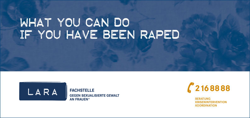 What you can do if you have been raped